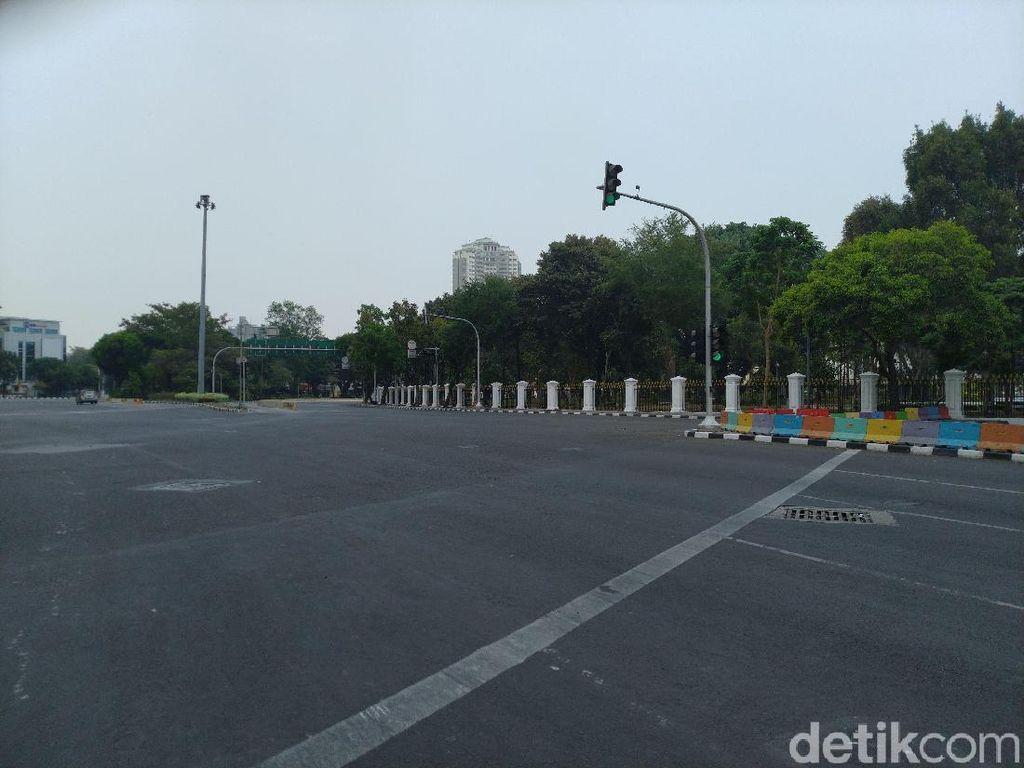 Jalan Depan Istana Ditutup Jelang Demo Buruh