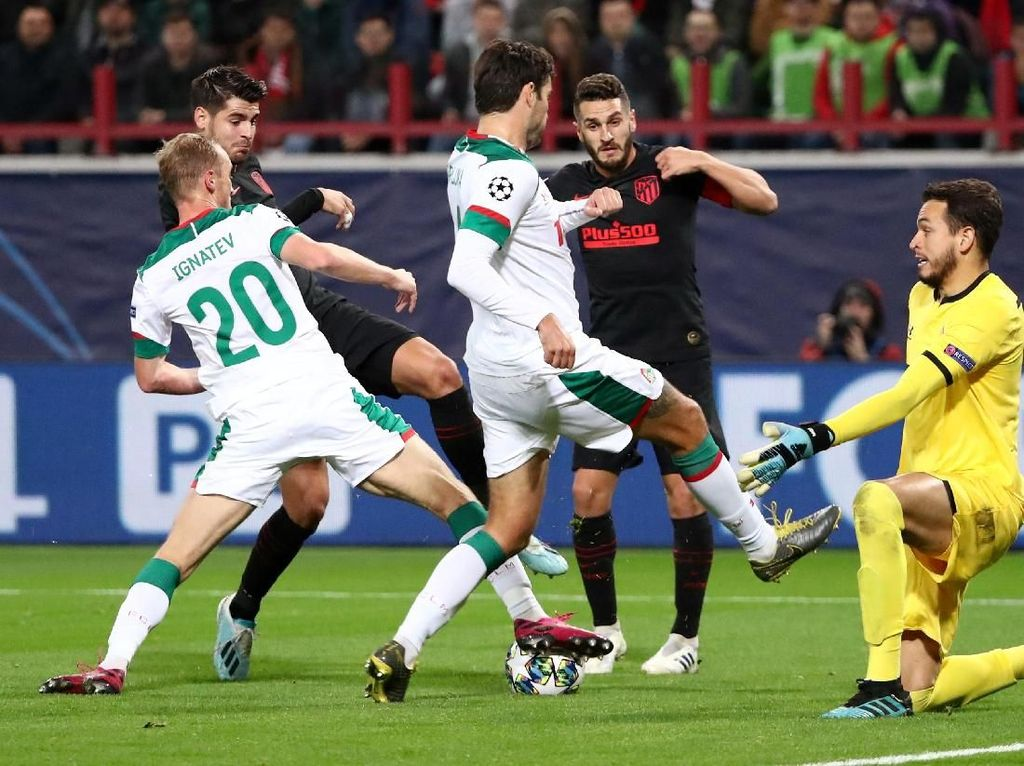 Lokomotiv Moskow Vs Atletico: Los Rojiblancos Menang 2-0