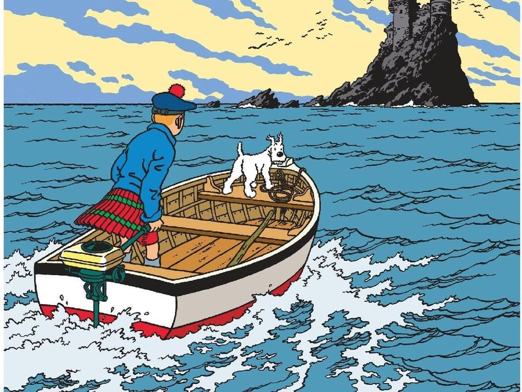 Lembaran Komik Tintin dari Tahun 1938 Dilelang Rp 4,6 M