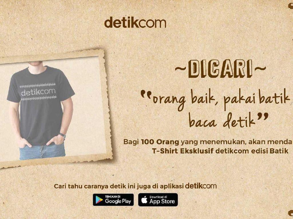 Ini Cara Mendapatkan T-Shirt Eksklusif detikcom Edisi Batik