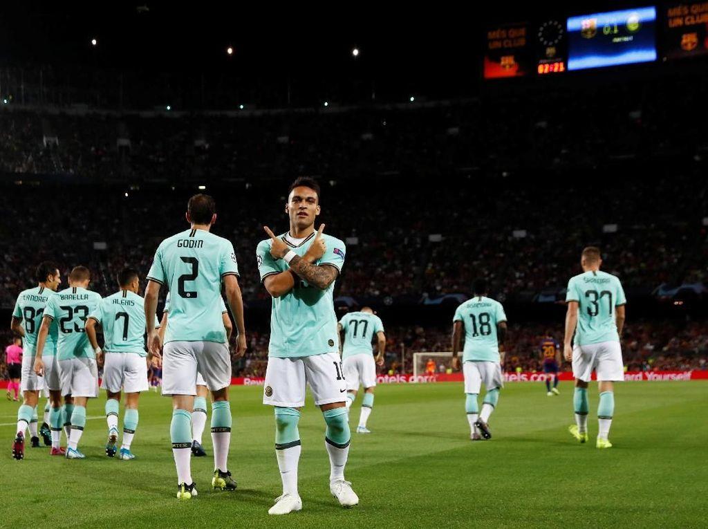 Inter Cetak Gol Pertama di Camp Nou dalam 49 Tahun