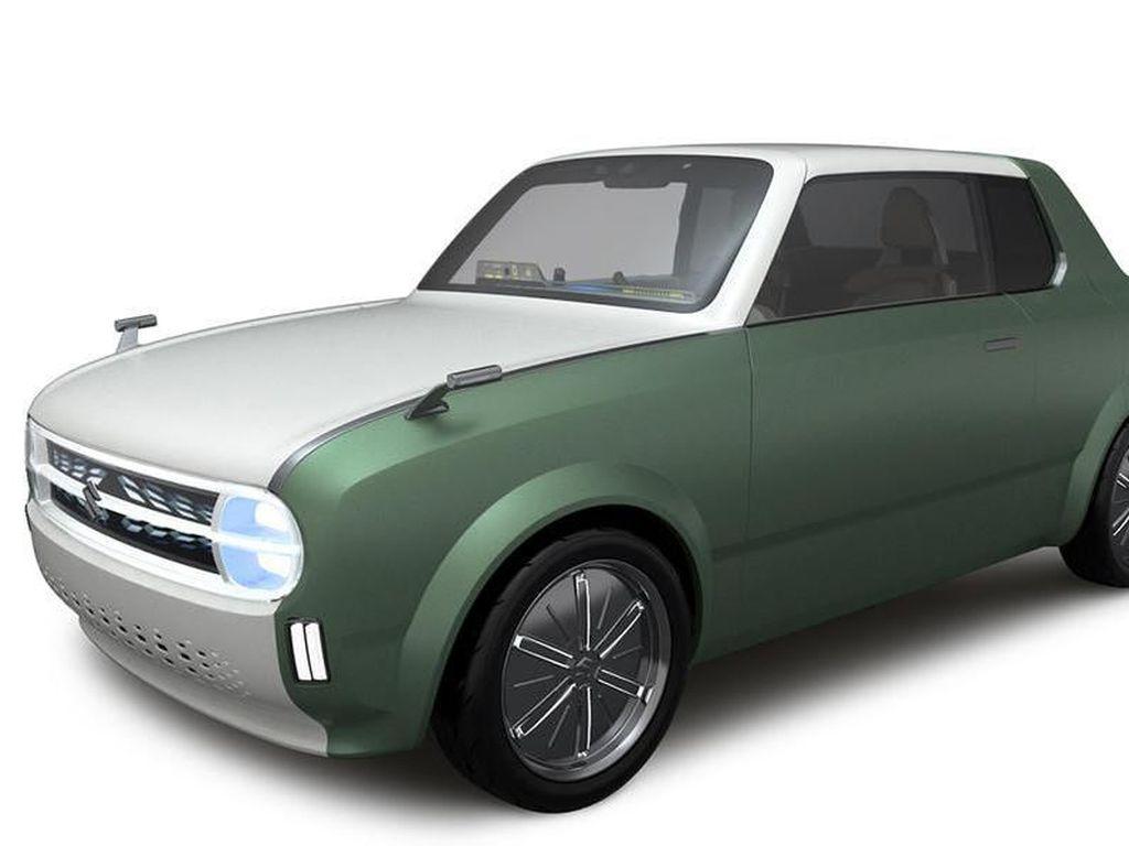 Mobil Hijau dengan Tampang Retro Suzuki