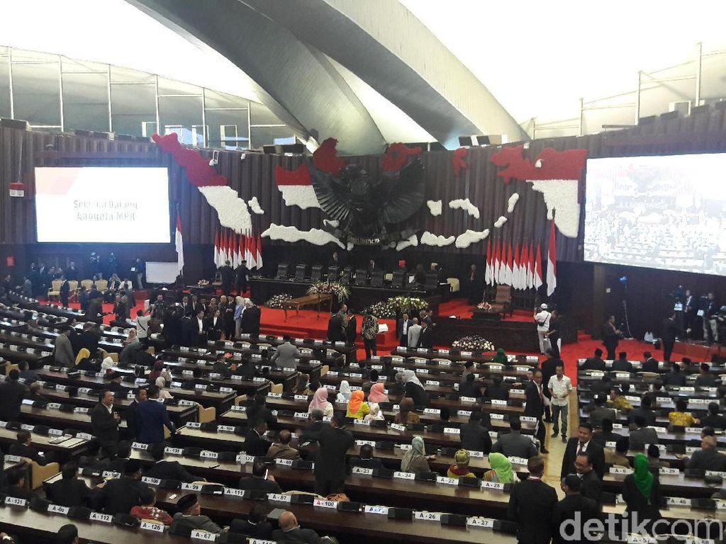 MPR Gelar Paripurna Pemilihan Ketua MPR, 328 Anggota Tak Hadir