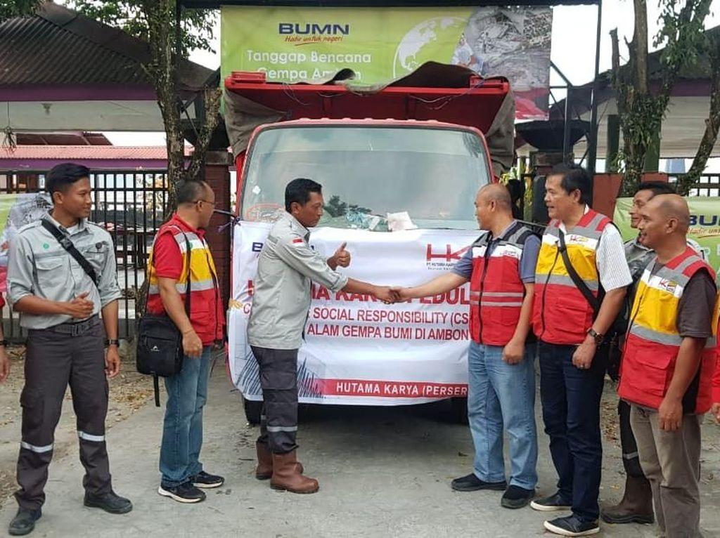 Hutama Karya Beri Bantuan Tenda sampai Beras ke Korban Gempa Ambon