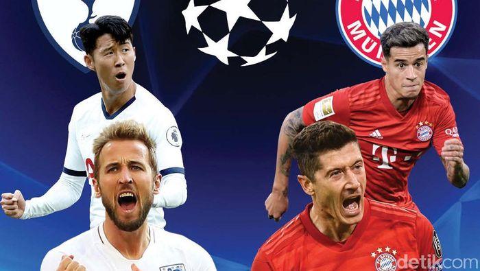 Tottenham Dihabisi Bayern Munich 2-7