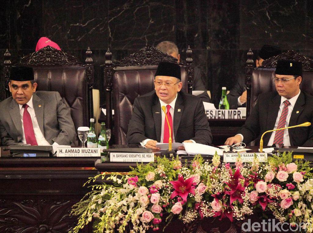 Pidato Ketua MPR Perdana, Bamsoet Bicara Amendemen UUD 1945