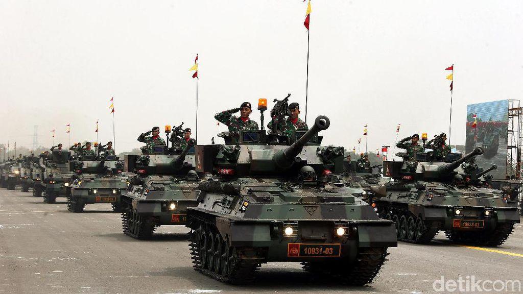 Deretan Alutsista Ramaikan Geladi Bersih HUT Ke-74 TNI