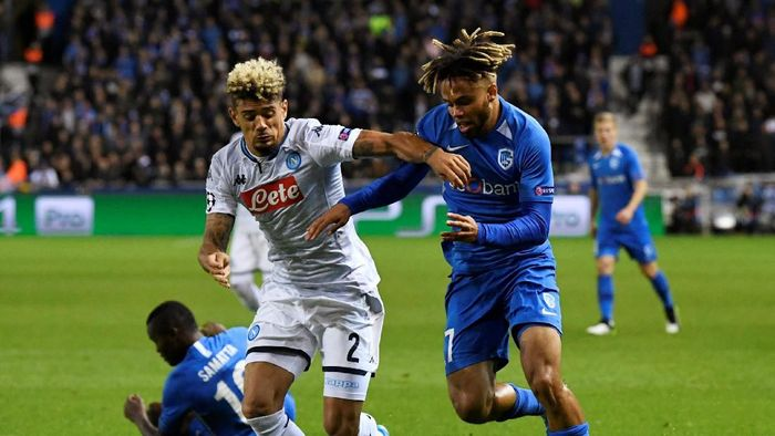 Napoli berimbang 0-0 di markas Genk. (Foto: Piroschka Van De Wouw/REUTERS)