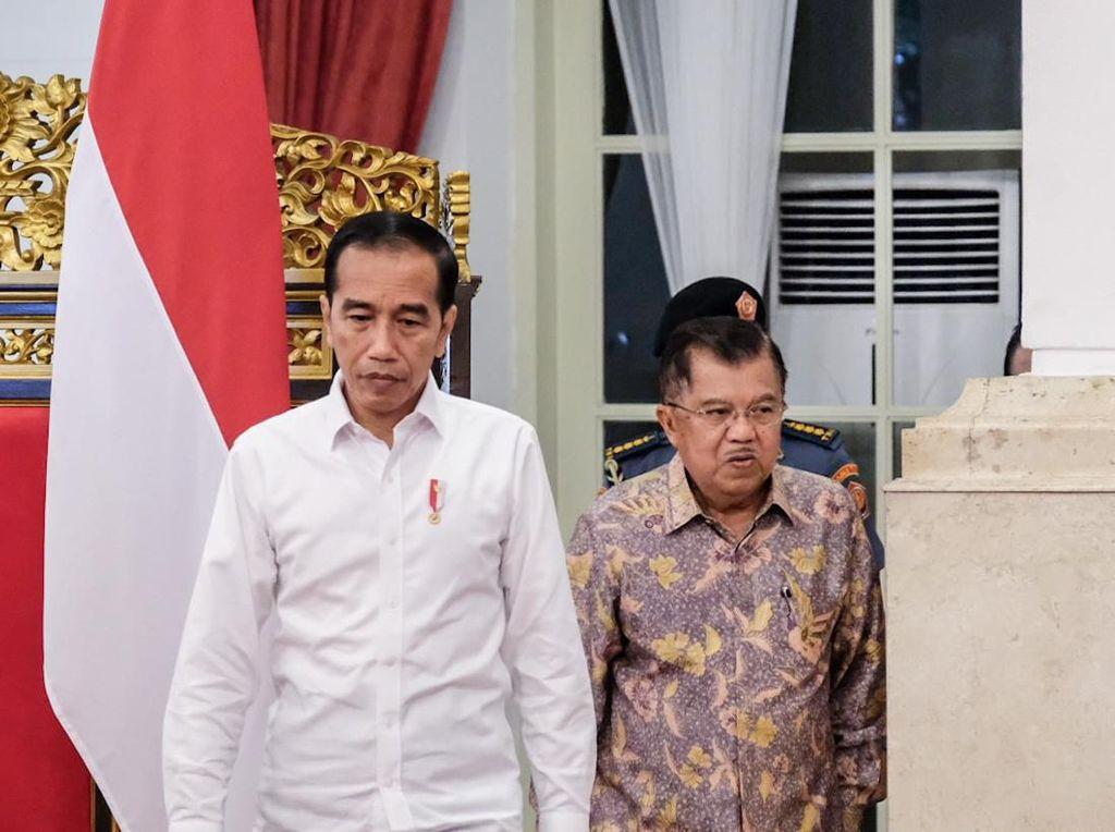 Momen Cipika-cipiki Jokowi-JK di Perpisahan Kabinet