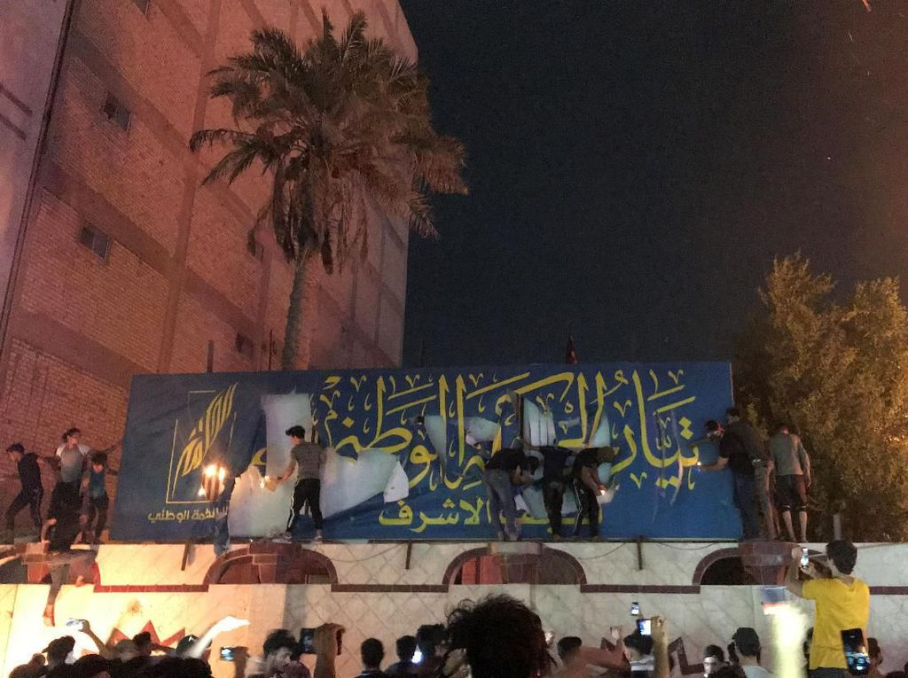 Najaf Kota Suci Syiah Membara, Gedung Konsulat Iran Dibakar