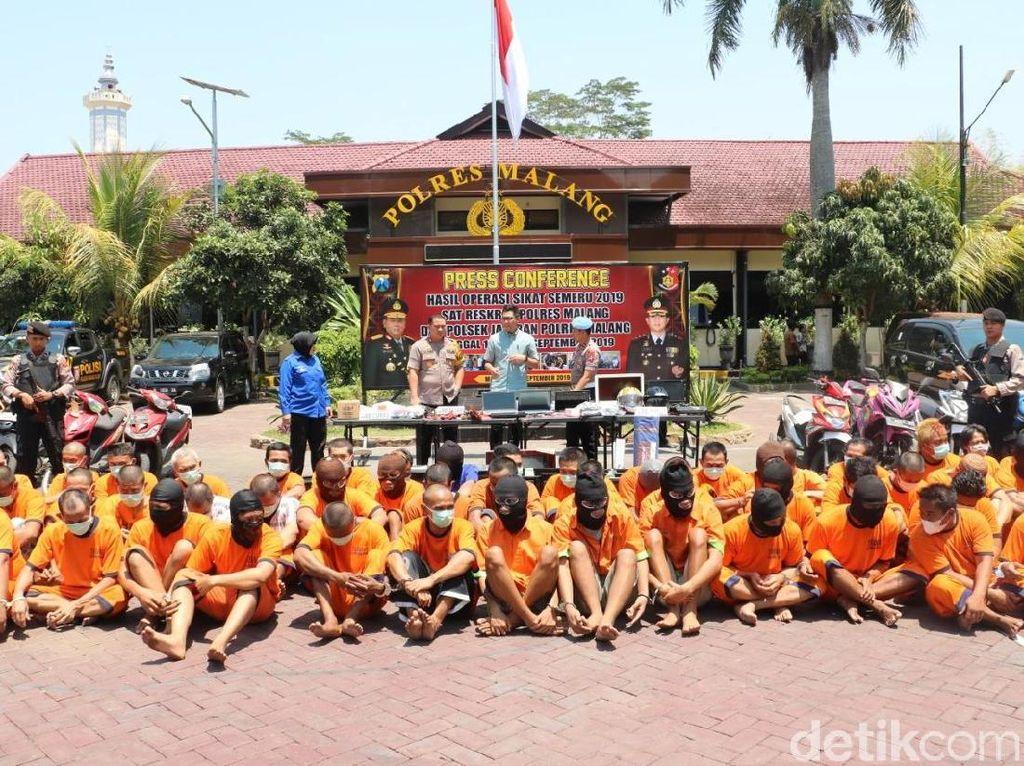 11 Hari Operasi Sikat Semeru 2019, Polres Malang Ungkap 273 Kasus