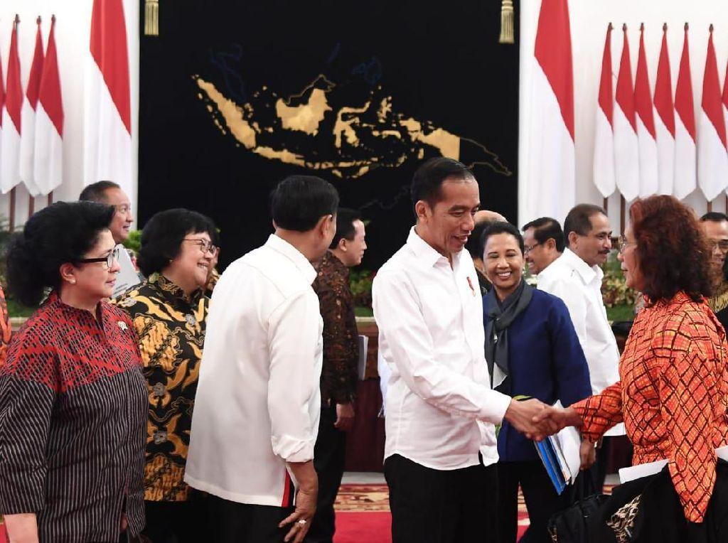 Perpisahan Kabinet, Jokowi Ucapkan Terima Kasih dan Minta Maaf