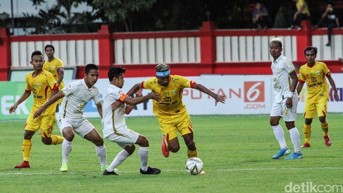 Bhayangkara FC vs PSS digelar di Stadion PTIK, Jakarta, Jumat (4/10/2019).