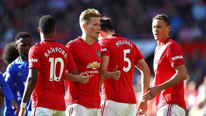 Manchester United ada di papan bawah daftar 50 klub top dunia. (Foto: Mark Thompson/Getty Images)