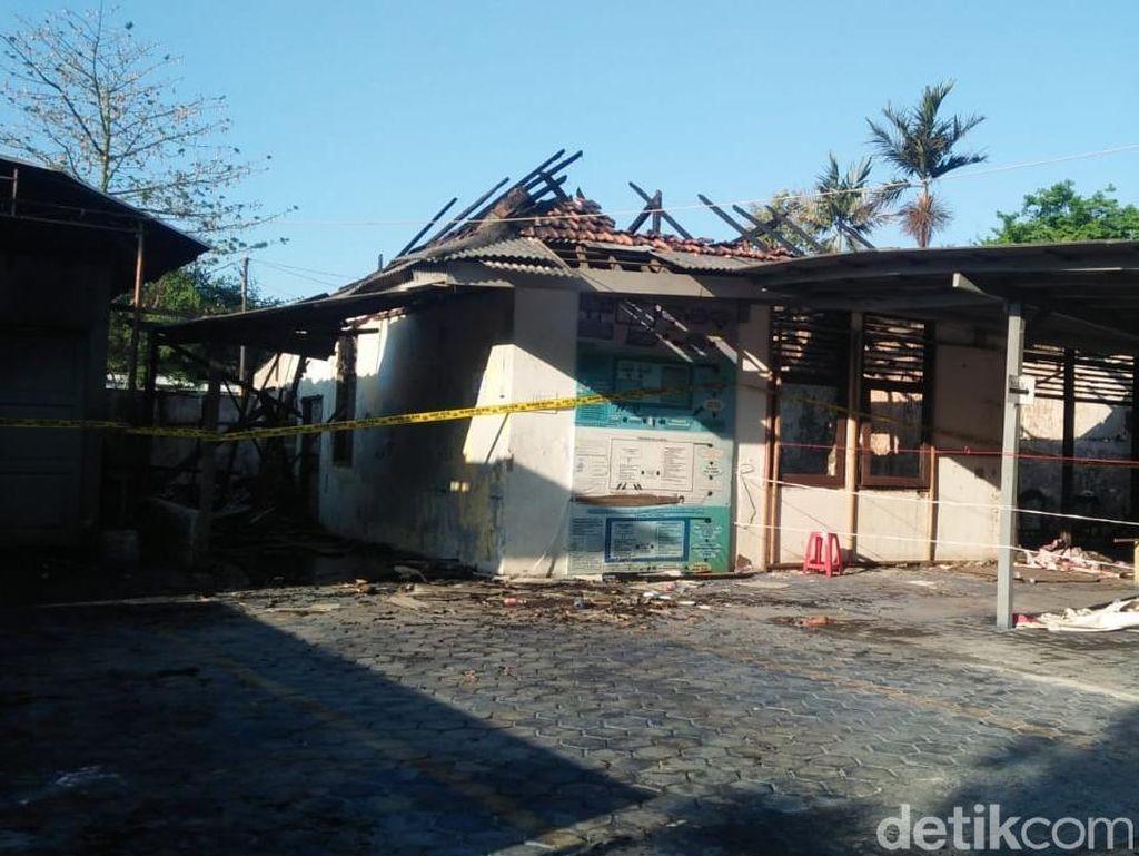 Terbakar, Ruang Tunggu Rutan Pondok Bambu Sementara Pakai Tenda