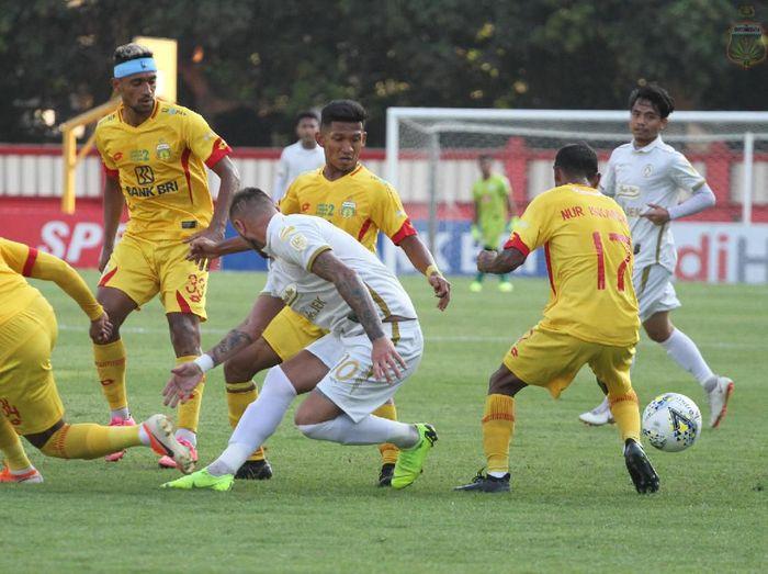 PSS Sleman mencuri kemenangan dari kandang Bhayangkara FC di Liga 1 2019. (Foto: dok.Bhayangkara FC)