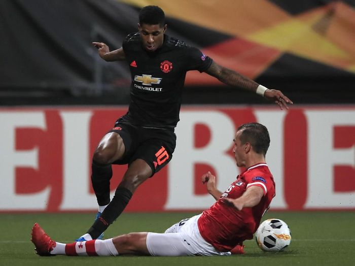 Laga AZ Alkmaar vs MU berakhir 0-0. (Foto: Peter Dejong/AP Photo)