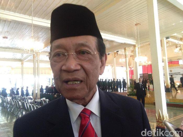 Gubernur Daerah Istimewa Yogyakarta, Sri sultan Hamengku Buwono, kecewa dengan kerusuhan saat PSIM vs Persis. (Foto: Usman Hadi/detikcom)