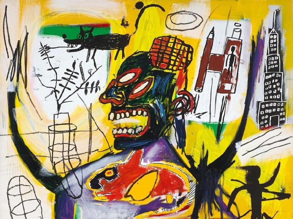 Tak Kalah dari Banksy, Lukisan Jean-Michel Basquiat Capai Rekor Rp 172 M