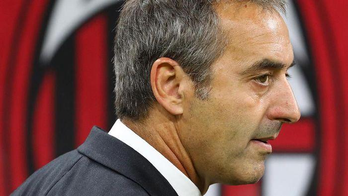 Marco Giampaolo dipecat AC Milan setelah hanya tujuh pertandingan. (Foto: Marco Luzzani/Getty Images)