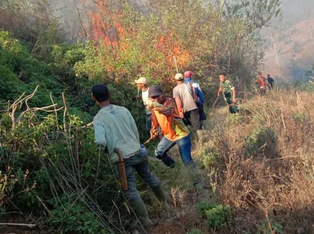 Pemadaman Kebakaran di Gunung Malabar Terkendala Medan dan Air