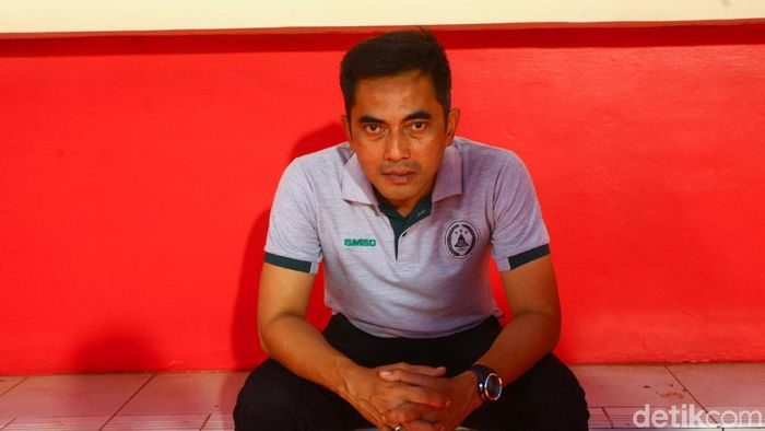 Pelatih PSS Sleman, Seto Nurdiantoro. (Foto: Rifkianto Nugroho/detikSport)