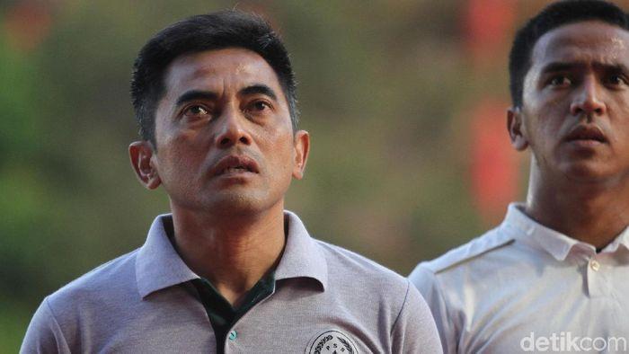 Seto Nurdiantoro menegaskan PSS Sleman melihat celah untuk kalahkan Persela Lamogan. (Foto: Rifkianto Nugroho/detikSport)