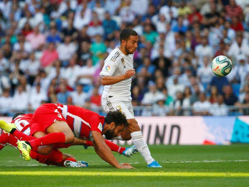 Madrid Vs Granada: Los Blancos Menang, Hazard Cetak Gol Perdana