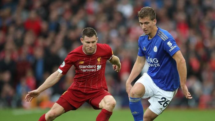Liverpool menang 2-1 atas Leicester City berkat penalti James Milner (Carl Recine/Reuters)