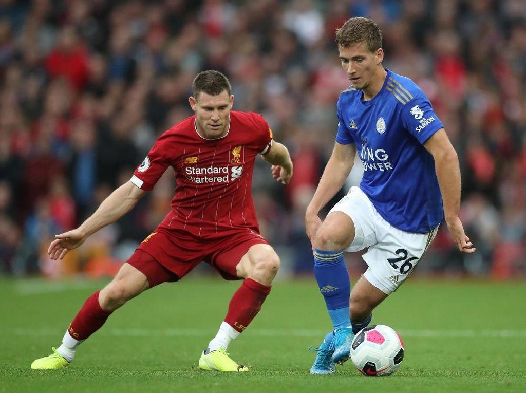 Hasil Liverpool Vs Leicester: Dramatis, Penalti Milner Menangkan Si Merah