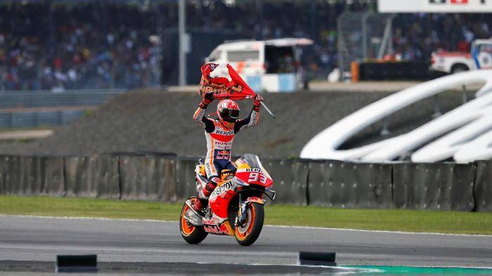 Marc Marquez juara dunia MotoGP 2019. (Foto: Soe Zeya Tun/REUTERS)