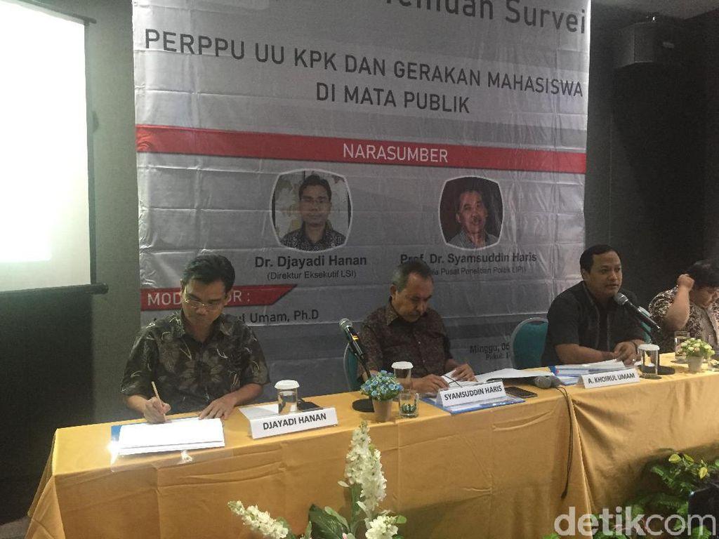 Survei LSI: Kepercayaan Publik terhadap DPR Paling Rendah, KPK Tertinggi