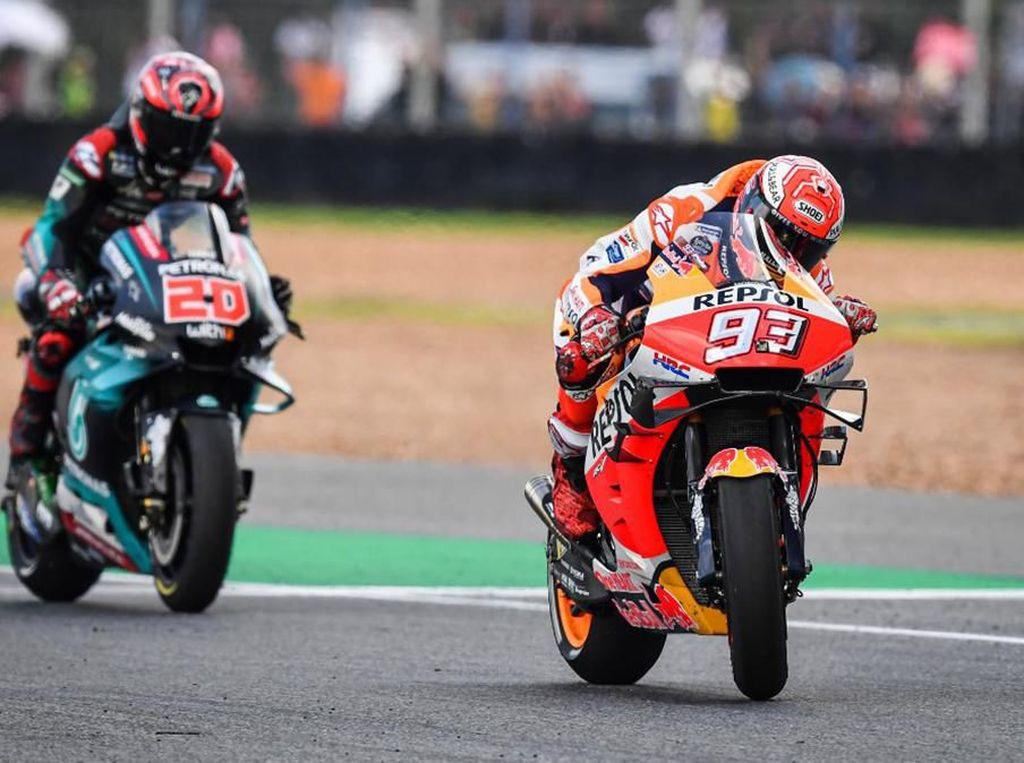 Bandingkan Motor Marquez dan Quartararo yang Berduel Sengit
