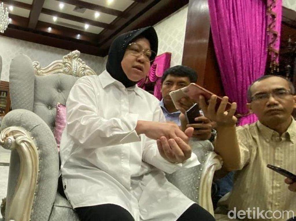 Risma Tanggapi Rencana Menhub Bangun Kereta Bandara di Surabaya