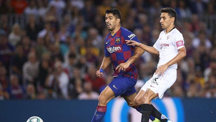 Barcelona menang 4-0 atas Sevilla. (Foto: Aitor Alcalde/Getty Images)