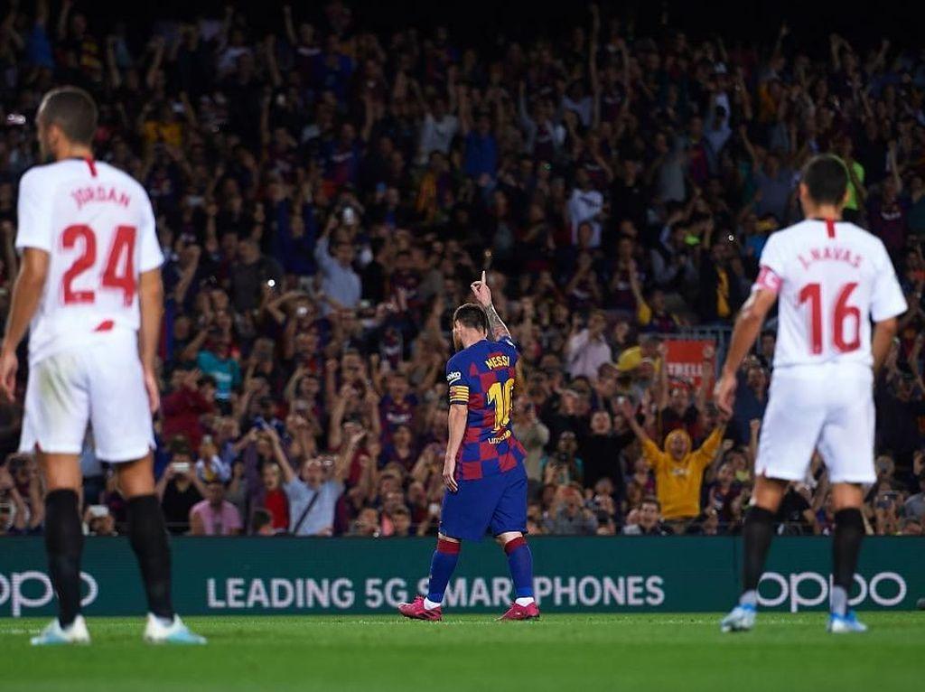 Messi Salip Jumlah Gol Ronaldo di Liga