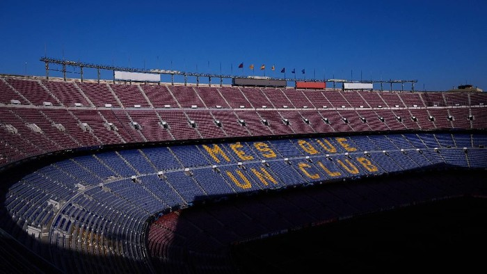 BARCELONA, SPAIN - OCTOBER 02: An inside view of the Camp Nou stadium ahead of the UEFA Champions League group F match between FC Barcelona and Inter at Camp Nou on October 02, 2019 in Barcelona, Spain. (Photo by Alex Caparros/Getty Images)