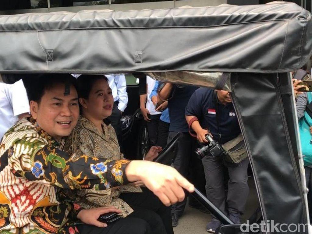 Saat Puan Jadi Sopir Pimpinan DPR Tinjau Kompleks Parlemen