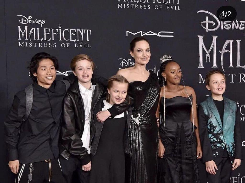 Angelina Jolie Terbuka soal Asal dan Masa Lalu 3 Anak Adopsinya