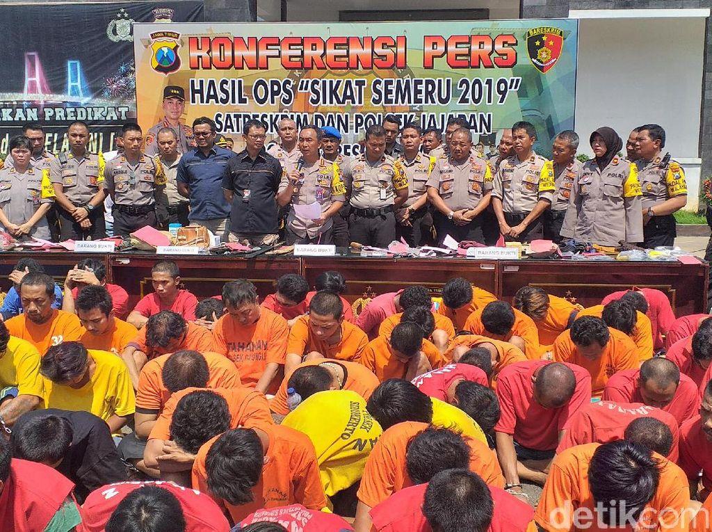 Peringkat 1 Se-Jatim, Polisi Surabaya Ungkap 494 Kasus dan 152 Tersangka