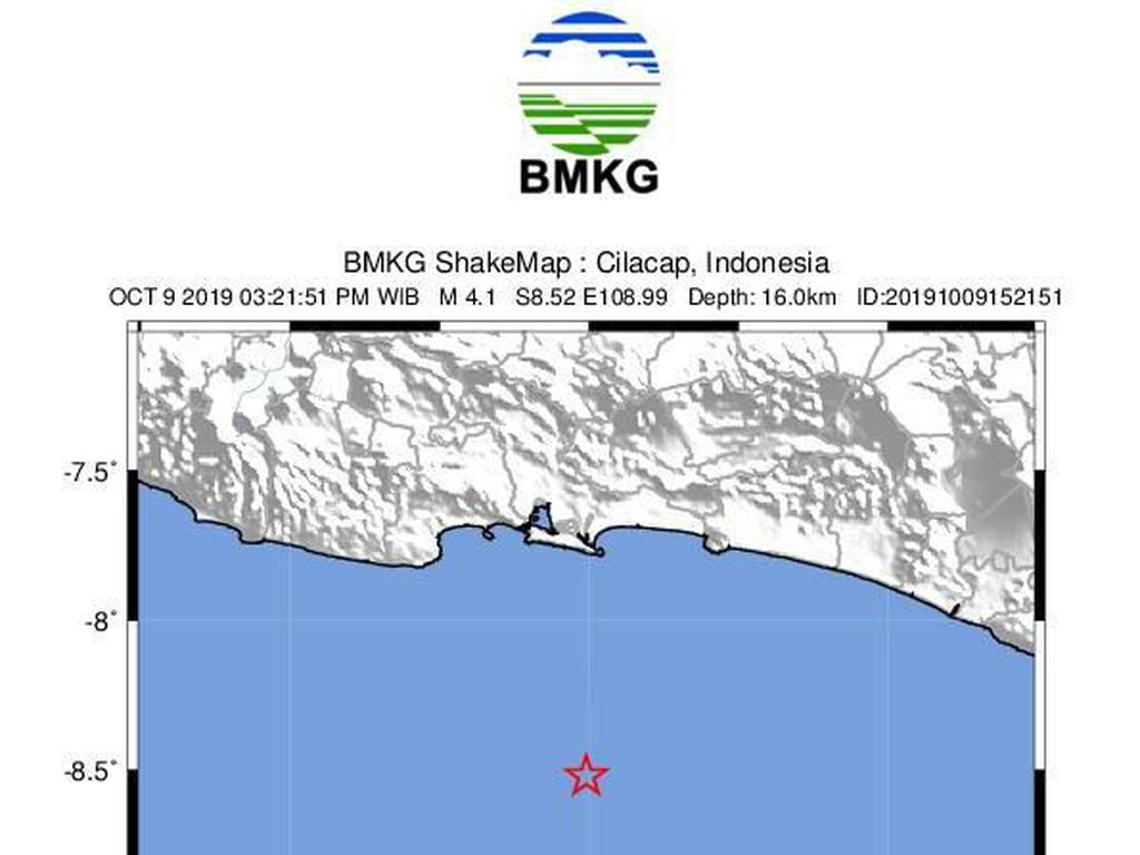 Warga di Cilacap Rasakan Getaran Gempa M 4,1