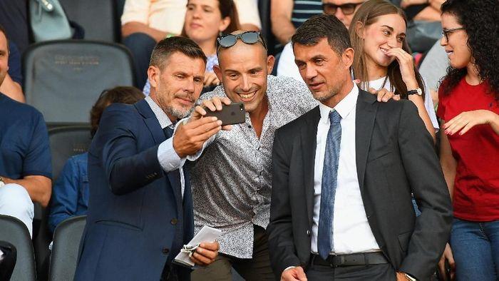Zvonimir Boban dan Paolo Maldini. (Foto: Alessandro Sabattini/Getty Images)