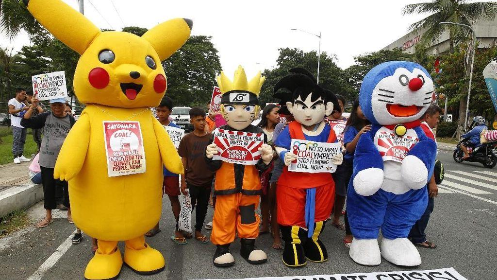 Naruto hingga Doraemon Tuntut Jepang Berhenti Danai Energi Kotor
