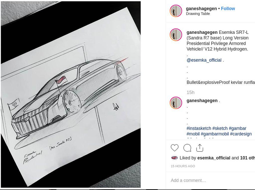 Kalau Desain Mobil Presiden Merek Esemka Kayak Gini Keren Nggak?