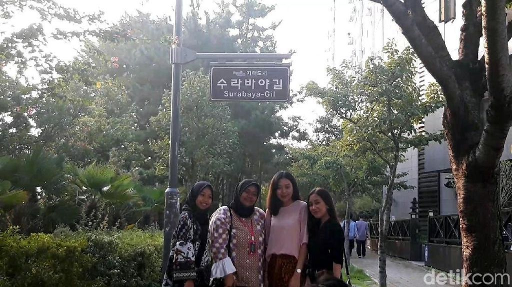 Foto: Saat Surabaya Diabadikan Jadi Nama Jalan di Korea