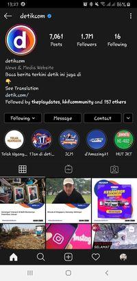 Instagram detikcom dark mode.