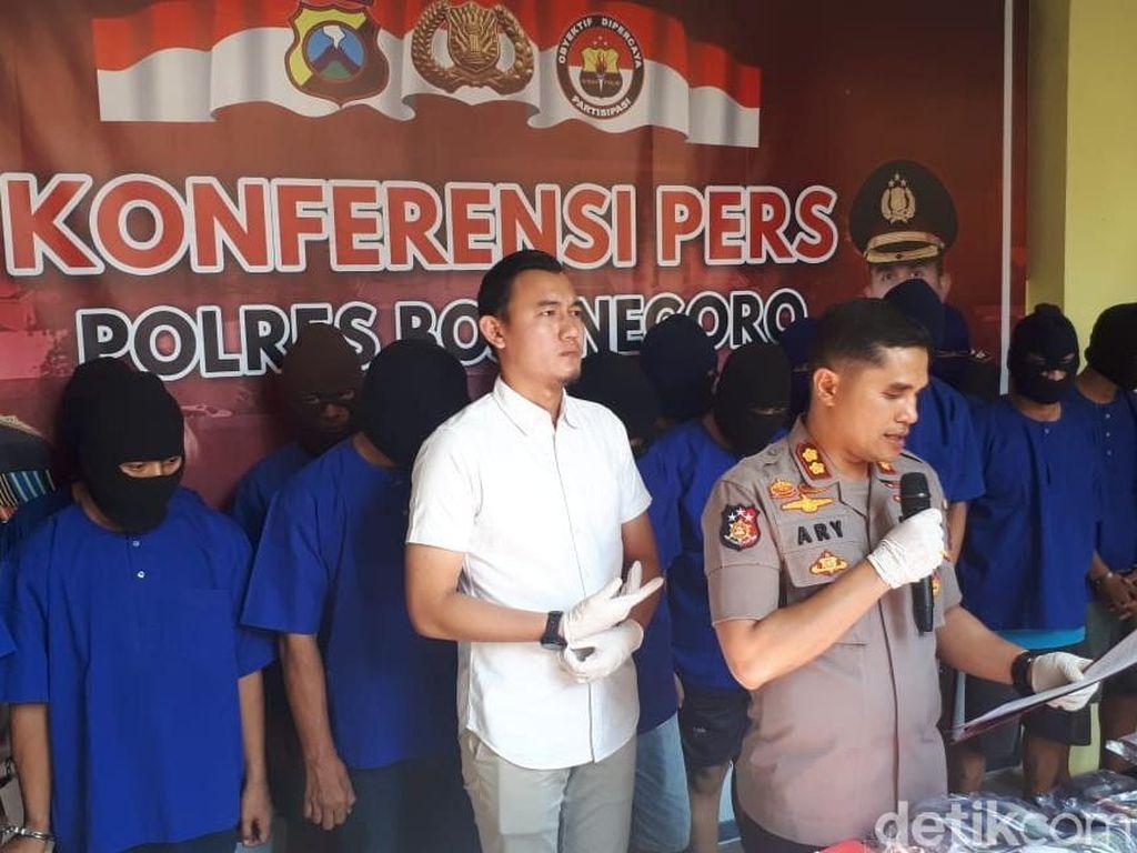 Puluhan Penjahat Jalanan Diamankan Polisi Bojonegoro, Dua Orang DPO