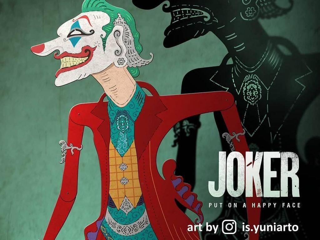 Joker Makin Hits, Kini Ada Versi Wayang Ciptaan Seniman Indonesia!