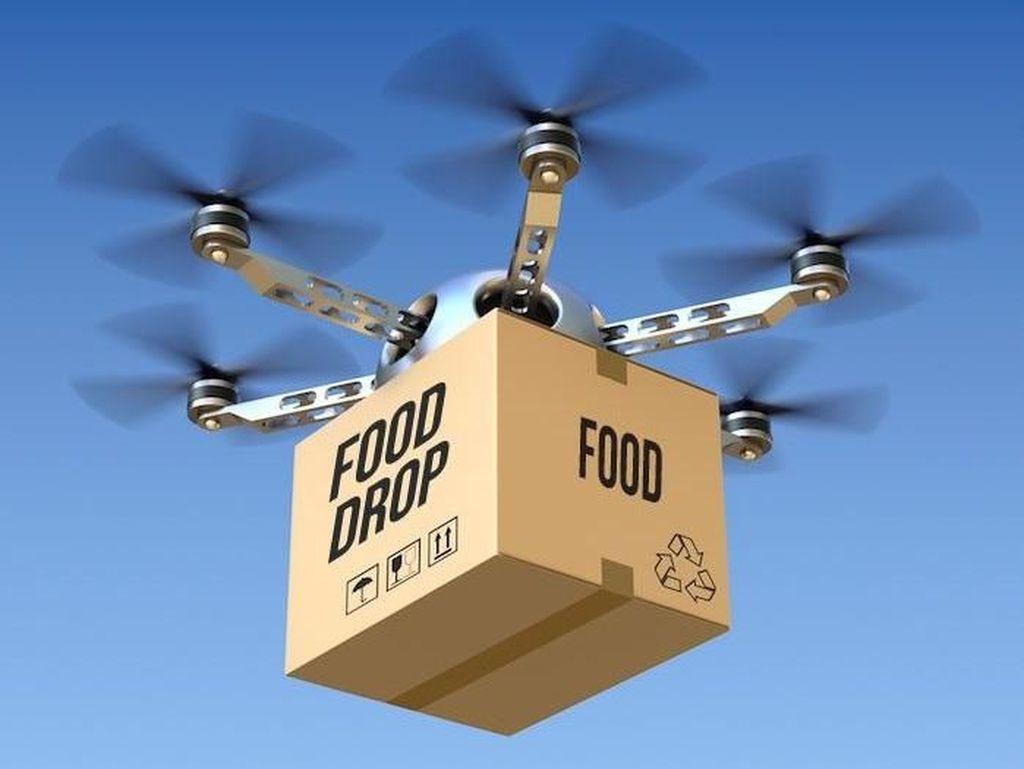 Canggih! Kisah-kisah Makanan yang Terbang Menggunakan Drone