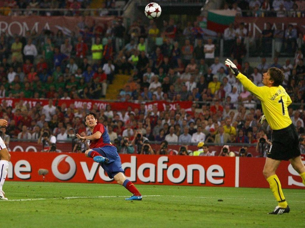 Lionel Messi: Gol Terbaikku? Sundulan ke Gawang Man United